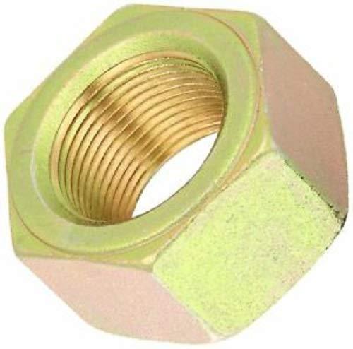 Grade 8 Zinc Yellow-Chromate Plated High-Strength Steel Hex Nut 3//8-24 Thread Size