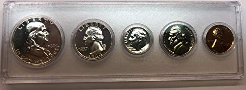 - 1960 P Silver US Proof Set RARE SMALL Date Comes in Hard Plastic Case Proof