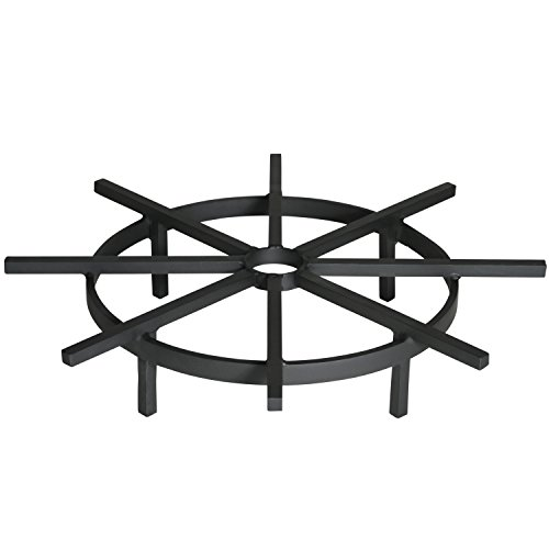 Cheap Heritage Products Heavy Duty Ship's Wheel Firewood Grate for Fire Pit, 24 Inch Diameter
