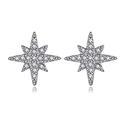 Women's Crystal Meteor Star Stud Earrings