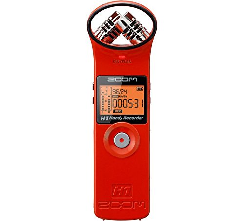 ZOOM H1 Handy Portable Digital Recorder (Red)