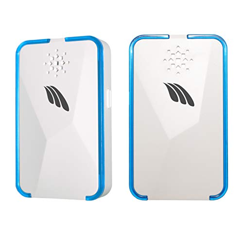 New Wharf Ultrasonic Family-Friendly Pest Repeller 2-Pack | Electronic Non-Toxic Humane Repellant Against Mosquitos, Mice, Spiders, Bed Bugs, Roaches, and Other pests.