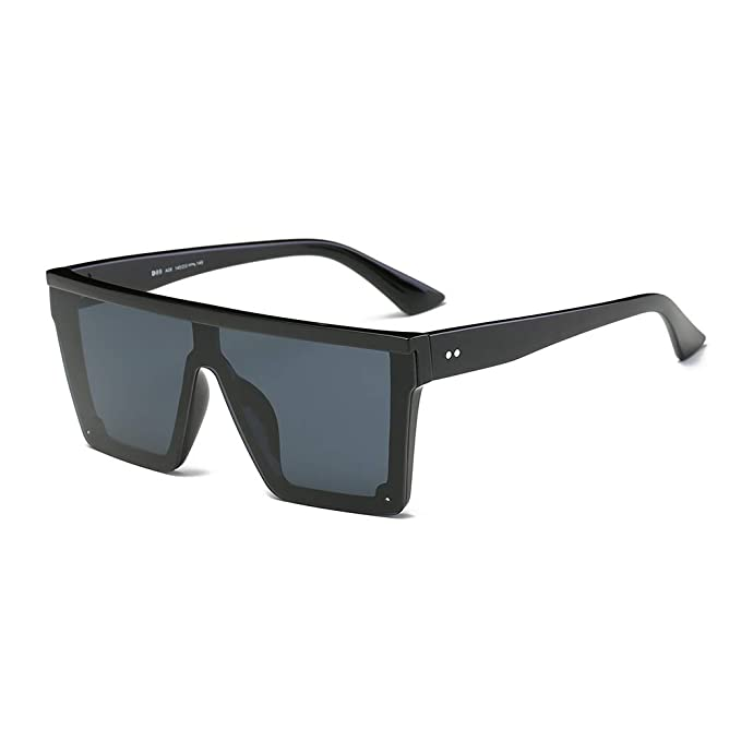 DONNA Cool Unisex Oversized Flat Top Sunglasses Square Aviator Shades D89
