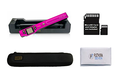 Vupoint ST470 Magic Wand Portable Scanner with Auto-Feed Docking Station + Hard Protective Travel Carrying Case + 8gb MicroSD Card - 1200dpi, PDF/JPEG, 1.5 LCD - for Photo, Document, Receipt (Pink) by VUPOINT