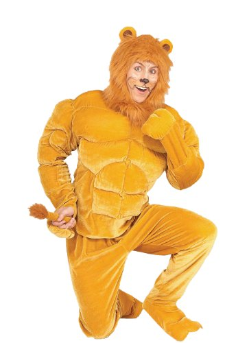 Forum Novelties Men's Twosomes Macho Lion Adult Costume, Brown, (Best Movie Couple Costumes)
