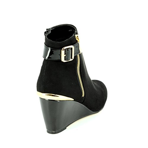 Zip Cassia Microfibre Lotus Coin amp; Bottes Noir Brillant up RS4zqwX4