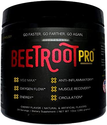 Beetroot Pro Sports Beet Powder for Optimized Circulation, Trusted by Elite Professional Athletes, Enhance Muscle Strength, Boost Energy, VO2 Max, Patented NO3-T Nitrate Technology