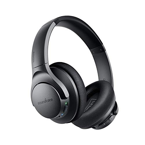 Anker Soundcore Life Q20 Hybrid Active Noise Cancelling Headphones, Wireless Over Ear Headphones with 40H Playtime, Hi…