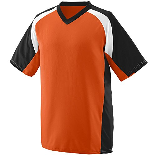 Augusta Sportswear Men's Nitro Jersey L Orange/Black/White