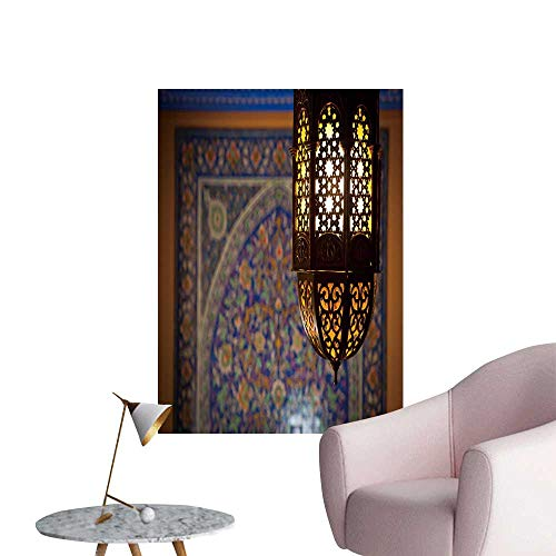"SeptSonne Vinyl Wall Stickers Tern lamp in a Traditional islami Style Perfectly Decorated,28"" W x 52"" L"