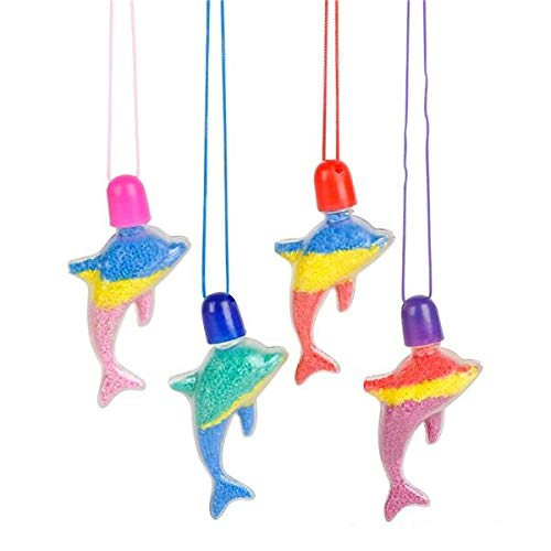 Rhode Island Novelty Dolphin Sand Art Necklaces | 24 ()