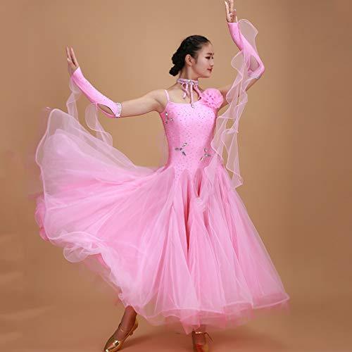 Moderne Performance Femmes Costumes Bal Robes Tango Danse Valse Pour Pink Les Wqwlf Concours Extensible Jupe Salle De Lisse xl Rqv6wn7g