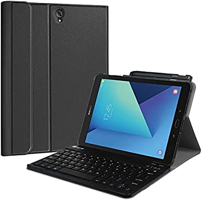 Fintie Keyboard Case for Samsung Galaxy Tab S3 9.7, Smart Slim Shell Stand Cover with S Pen Protective Holder Detachable Wireless Bluetooth Keyboard ...