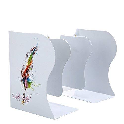 Kreative Buchstützen Einziehbarer Buchstützen-Rahmen kann drei Buch-Buch durch Studenten Bookshelf Buchstützen weißer Schmetterling gefaltet werden (Farbe   Farbe ribbon Weiß) B07P9PT3WF | Exzellente Verarbeitung