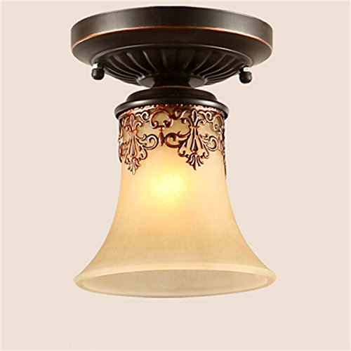 LightInTheBox Vintage Flush Mount LED Chandeliers Pendant Lights Bronze Finish Lighting Fixture Voltage = 110-120V, Light Source=Warm White (Chandelier Bronze 3 Finish Light)