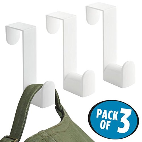 Over the Door Closet Storage Hooks for Coats, Hats, Robes, Towels