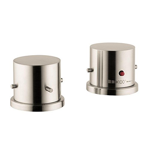 Hansgrohe 10480821 Axor Starck Thermostatic Tub Filler Trim, Brushed Nickel