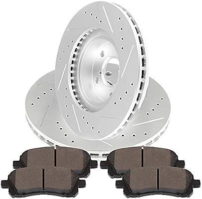 For 2000 Subaru Legacy Front Rear eLine Drilled Brake Rotors+Ceramic Brake Pads