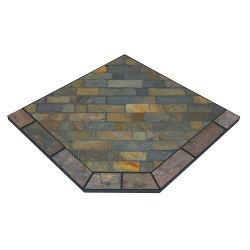 Windsor Flagstone 48'' x 48'' Single Cut Corner Hearth Pad by Diamond Hearths