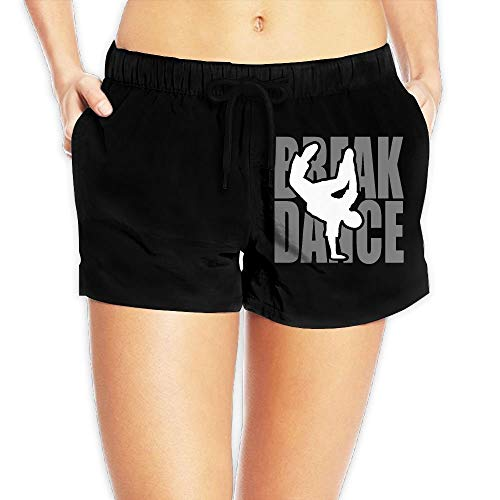 Break Dance Womens Fashion Boardshorts Surf Yoga Swim Trunks with Pockets ()