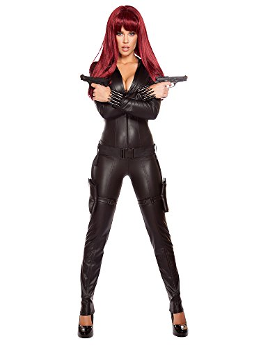 Roma Costume Women's 2 Piece Alluring Assassin, Black, Small]()