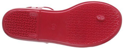 Tommy Hilfiger J1285avea 2r - Chanclas Mujer Rojo - Rot (NEW BARBERRY 924)