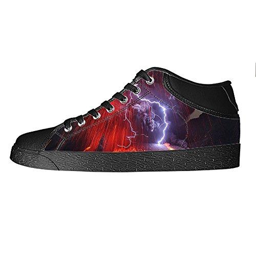Custom illuminazione Mens Canvas shoes I lacci delle scarpe in Alto sopra le scarpe da ginnastica di scarpe scarpe di Tela.