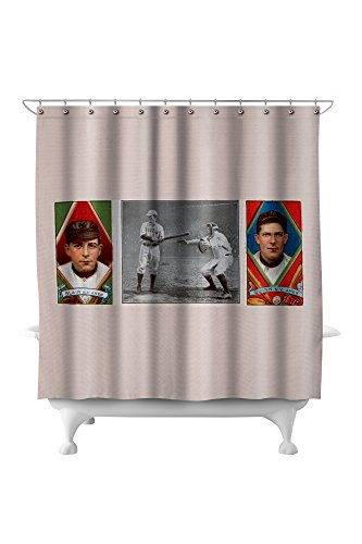 New York Highlanders - Walter Blair/John Quinn - Baseball Card (71x74 Polyester Shower Curtain)