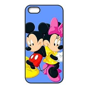 funda iPhone Z5B33 Disney Mickey Mouse Minnie Mouse K8U3LL 4 4s funda caja del teléfono celular cubre HY7COG6RQ negro