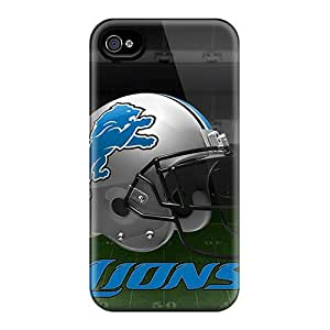 Protector Hard Cell-phone Cases For Iphone 4/4s (bMl15348UiCh) Support Personal Customs Trendy Detroit Lions Pattern