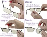 GMS Optical Air Bag Screw-in Silicone Nose Pads for Glasses, Sunglasses, and Eye-wear