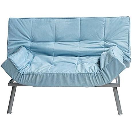 The Cozy Sofa Mini Futon Silver Blue