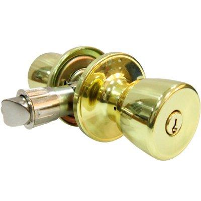 (TAIWAN FU HSING INDUSTRIAL CO TS700B-MH KA2 Tru-Guard Polished Brass Tulip Entry lockset,)