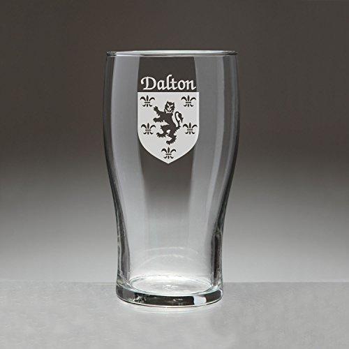 Dalton Irish Coat of Arms Tavern Glasses - Set of 4 (Sand Etched)
