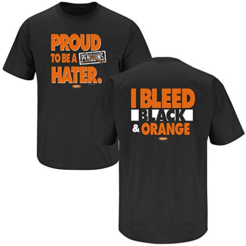 Philadelphia Hockey Fans. Proud to be a Pittsburgh Hater Black T-Shirt (Sm-5X) (Short Sleeve, 2XL)
