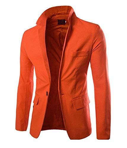 Traje Hombres Chaqueta Blazer Simple Los Negocios Estilo De Naranja p0dqxwEv