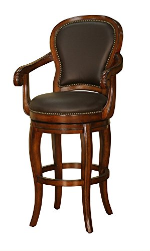 Santos 30 in. Bar Stool in Cona and Chocolate - Covina 30
