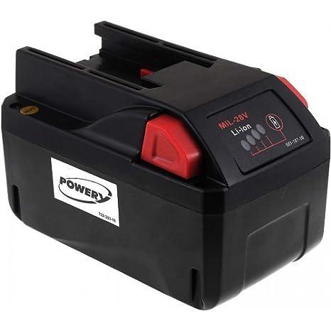 Batería para atornillador inalámbrico Milwaukee HD28 IW 4000 mAh, 28 ...