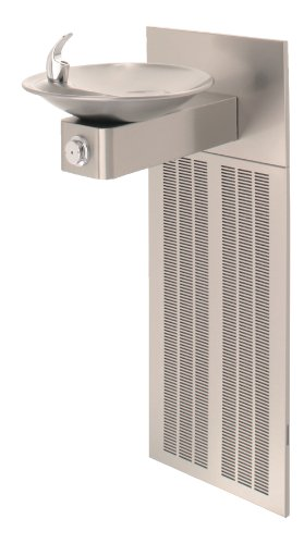 - Haws H1001.8 Stainless Steel Barrier-Free Satin Finish Electric Water Cooler with Round Sculpted Bowl (Chiller and Mounting Frame Not Included)