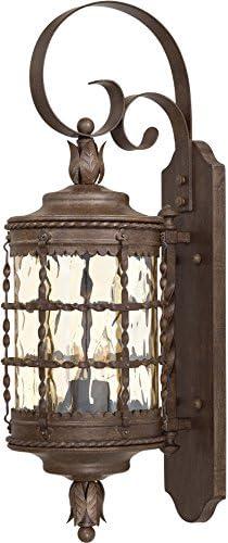 Minka Lavery Outdoor Wall Light 8881-A61 Mallorca Exterior Wall Lantern, 120 Watts, Rust