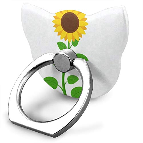 Cool Customized Finger Ring Stand Funny Sunflowers 360°Rotation Cell Phone Ring Stand Holder Grip Universal Smartphone Ring (Screen Protector Universal Reusable)