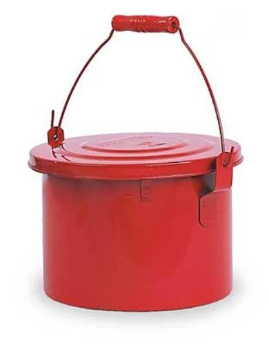 350 Eagle (Eagle B-604 Bench Galvanized Steel Safety Can, 4 Quart Capacity, Red)