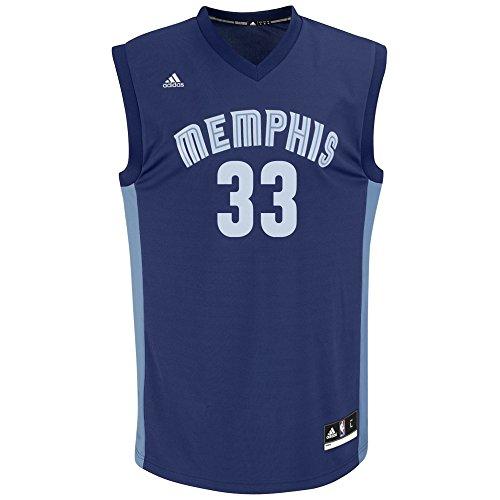 NBA Men's Memphis Grizzlies Marc Gasol Replica Player Road Jersey, Large, Navy