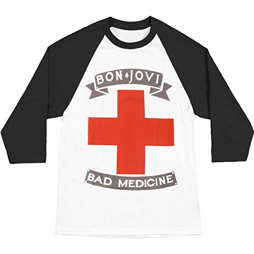 Tee Homme Badmed Pour De Mars American Raglan Manchon Bon Rock shirt Groupe Classics 4 Jovi gYqwP4