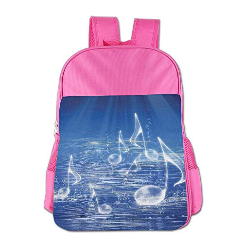 Haixia Kid Boy's&Girl's School Backpack Music Decor Magical Water with Musical Notes Bubbles and Dancing Waves Fantasy Music More Than Real Decor Full Blue by Haixia