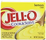 Jell-O, Cook & Serve, Pudding & Pie Filling, Lemon, 2.9oz Box (Pack of 4)