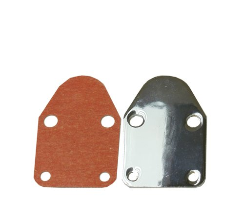 Chrome Fuel Pump Block-Off Plate For SBC 283 305 327 350 383 400 SB (Chrome Fuel Pump Cover)