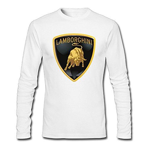 Mens Lamborghini Logo Long Sleeve T Shirt White