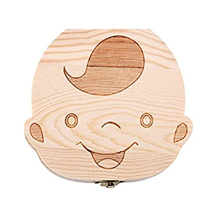 Baby Tooth Box and Tooth Holder, Tooth Fairy Box Special For Kids Keepsake, Teeth Collection (Boy) M-Aimee