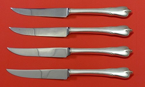 Sterling Silver Steak Knife - Grand Colonial by Wallace Sterling Silver Steak Knife Set 4pc HHWS Custom